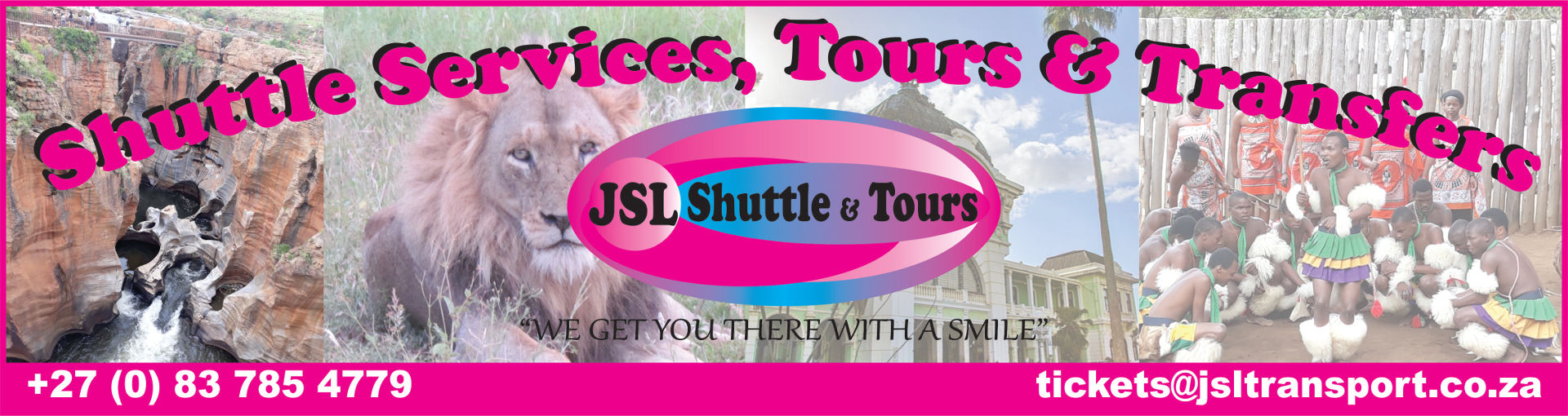 Logo of JSL shuttle services, transfer and tours